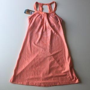 NWT Prana Cantine Dress Peach Synergy Shelf Bra XS
